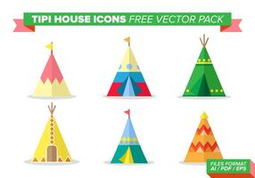 Tipi House Iconen Gratis Vector Pack