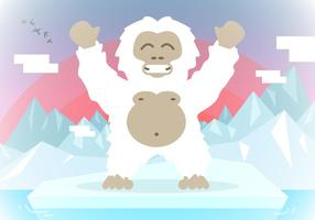 Yeti Landscape Background Vector