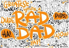 Vecteur de lettrage de jour de fête des pères
