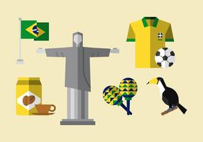 Vector brasil pictogram set