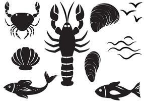 Vecteurs de fruits de mer gratuits