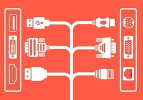 Vector kabel stekkers