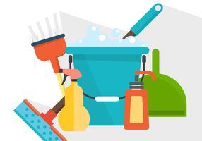 Produtos de limpeza de vetores