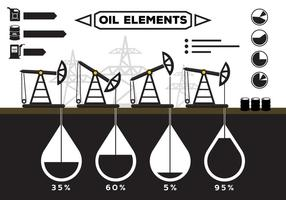 Oil Field Infographics vector