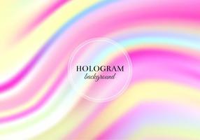 Vector libre de color rosa y amarillo Holograma de fondo