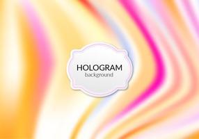 Vecteur libre fond d'hologramme chaud