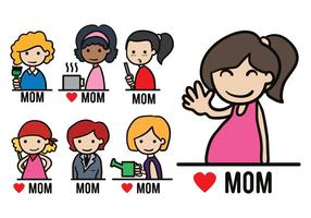 Pacote Vector Moms