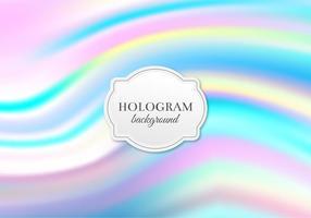 Fundo livre do holograma pastel do vetor