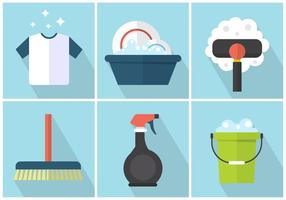 Productos de limpieza vectorial