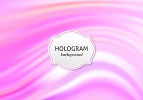 Vector libre Rosa brillante Holograma de fondo