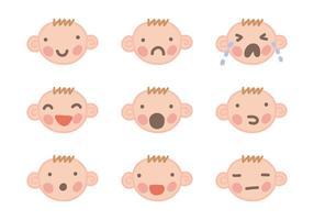 Vetores de rosto de bebê