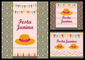 Festa Junina Invitation card illustration