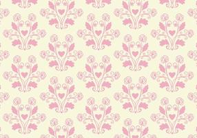 Free Vector Pink Toile Floral Background