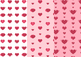 Freie Herzen Muster Vektor