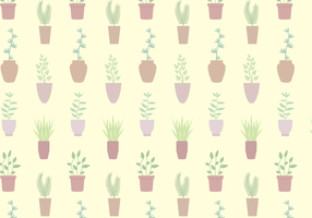 Gratis Potted Plant Pattern Vector