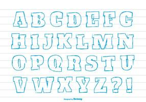 Cute Hand Draw style alphabet set
