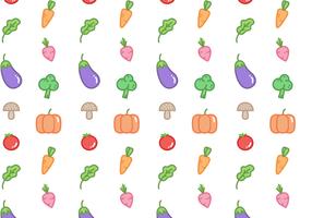 Vetor padrão de vegetais grátis