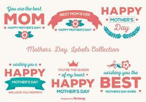 Etiquetas lindas del vector del día de madre