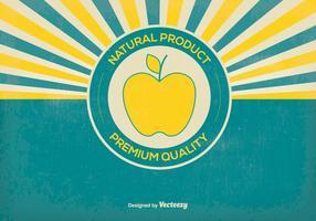 Illustration rétro des produits naturels
