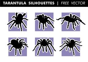 Vecteur libre de silhouettes de tarentules