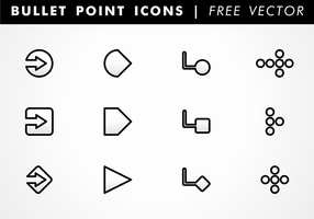Bullet Point Ikoner Gratis Vector