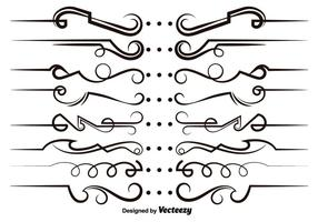 Elementos modernos do Scrollwork Vector