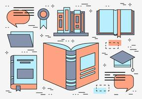 Gratis Flat Line Education Vector Wallpaper