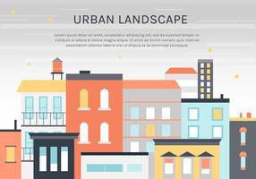 Fond d'écran de paysage urbain plat gratuit