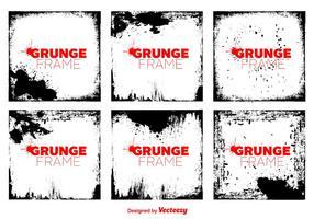 Vector quadros de vetores de grunge