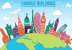 Vector de edificios famosos gratis