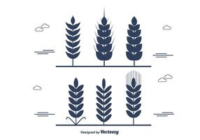 Wheat Stalk Vector