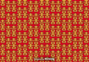 Vector Double Happiness Seamless Pattern