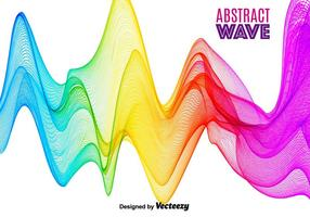 Abstrakt Färgglada Vector Wave