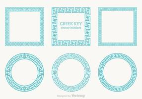 Libre griego fronteras vector clave