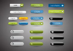 Free Web Buttons Set 13 Vektor