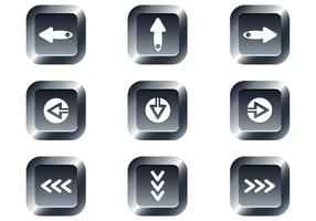 Free Web buttons set 15 vector