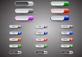 Free web buttons set 12 vector