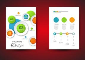 Gratis brochure sjabloon vector