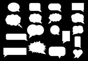Gratis White Speech Bubble Vector