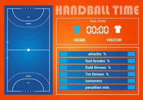 Free Handball Game Statistic Vector