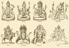 Indian Deities vector