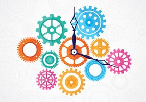 Free Clock Teile Vektoren