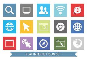 Ensemble d'icônes connexes à Internet de style plat