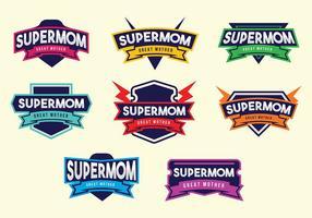 Kostenlose Supermom Badge Vectors