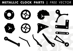 Metallic Clock Parts Free Vector