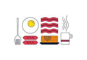 Vector Desayuno Libre