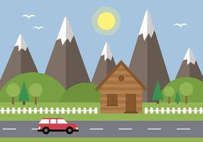 Vecteur de paysage gratuit