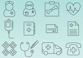 Hospital Line Icons vector