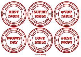 Timbres vectoriels pour la fête des mères