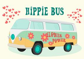 Vecteur de bus hippie